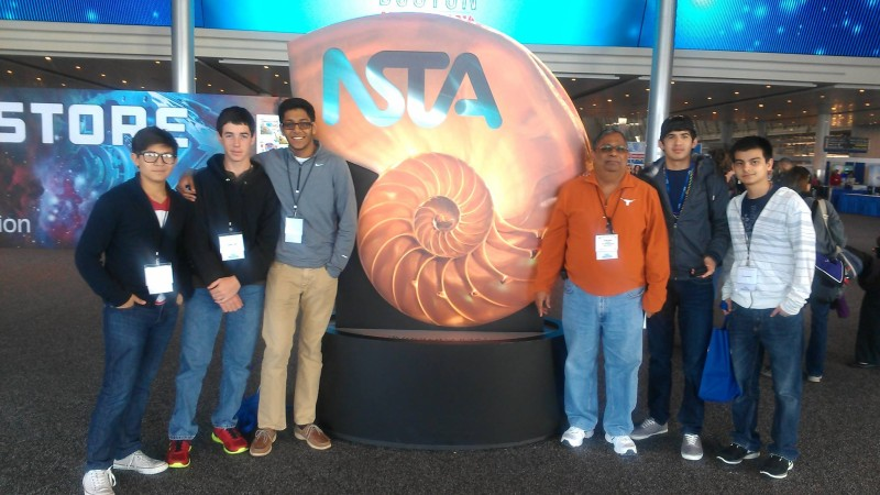 Foy H. Moody High School students and teacher at the National NSTA Meeting in Boston