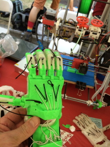A Prosthetic hand made from a 3D printer